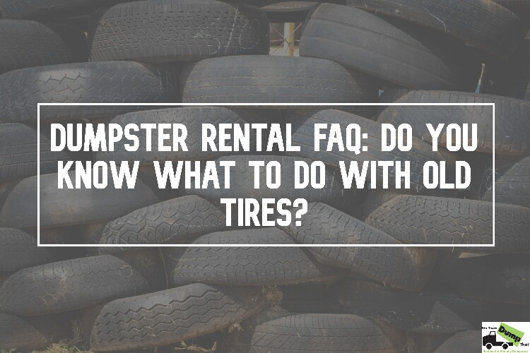 Do You Know What To Do With Old Tires?